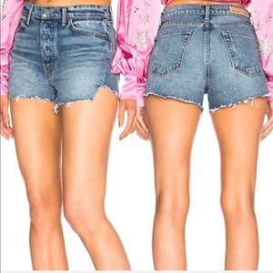 FINAL PRICE • GRLFRND • Mardee Cutoff Denim Shorts